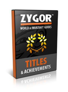 Titles and Achievements guide